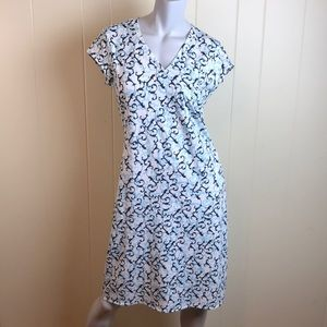 Athleta Blue White V Neck Sheath Dress